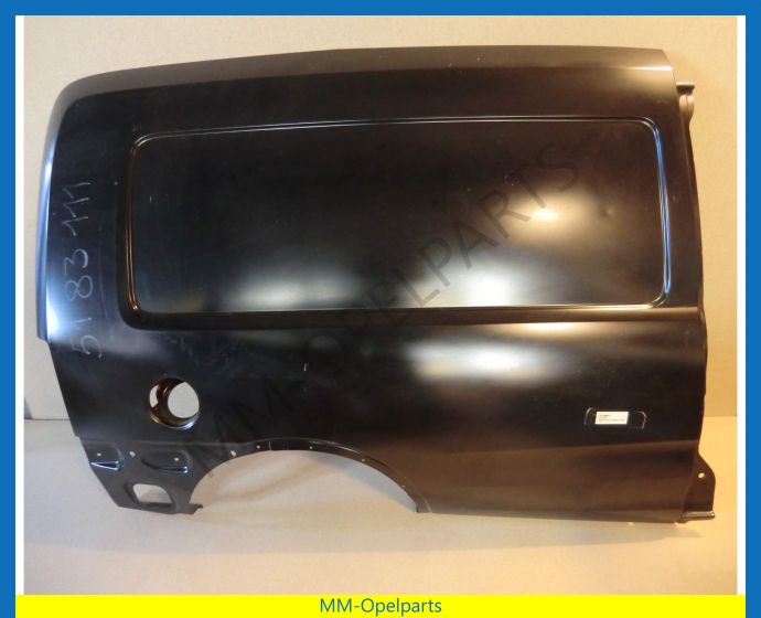 Rear panel right (Not for fixed rear side window or sliding door)