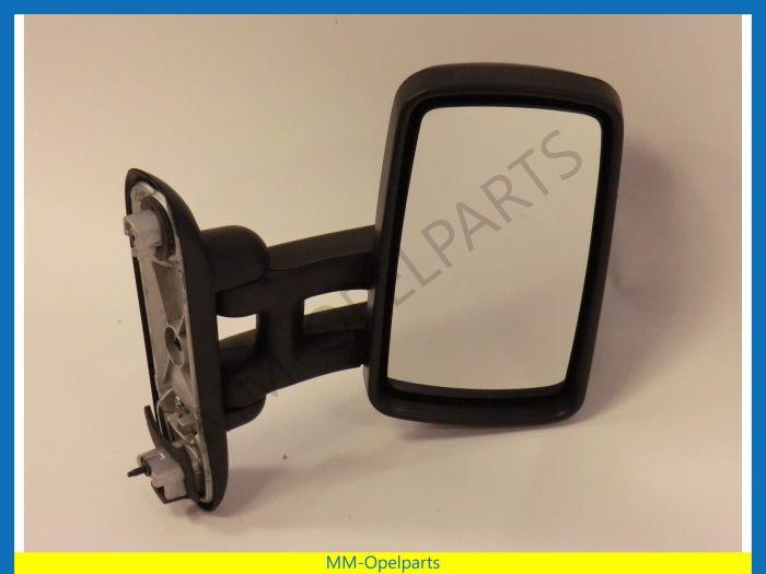 Mirror Vivaro extended electric right color: black
