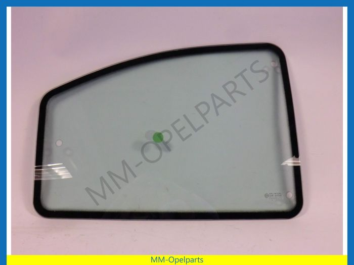 Side window right 3-drs hatchback green tinted