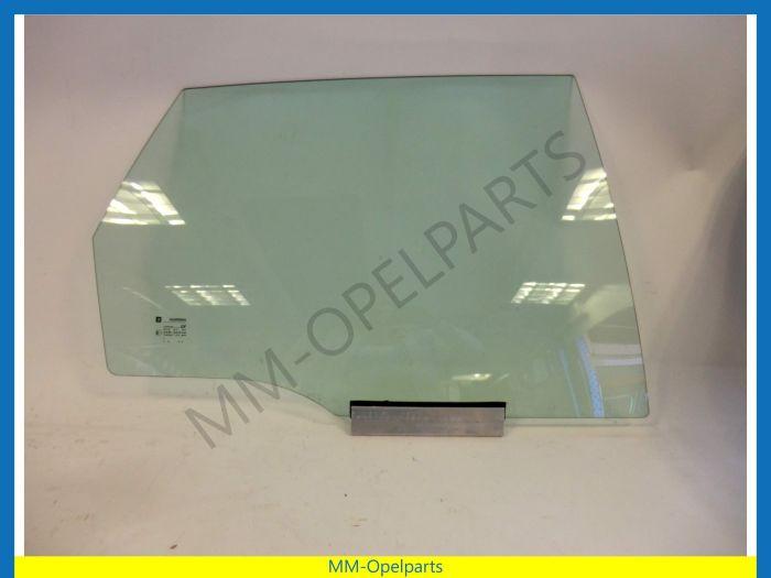 Door window right rear 5-drs hatchback sedan green tinted