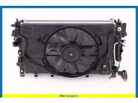 Complete radiator + Charge-air cooler + condenser + radiator fan