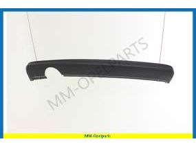 Moulding, rear bumper panel, lower, grained