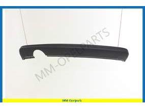 Moulding, rear bumper panel, lower, grained