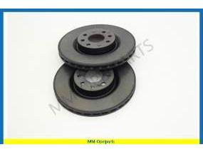 Brake discs set front, vetilated, 22-mm x 284-mm