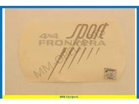 Name Plate Frontera B sport