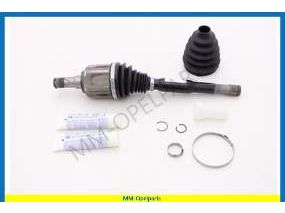 Drive shaft, left, with boot kit