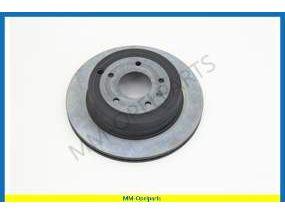 Brake disc, rear, 302x28 MM