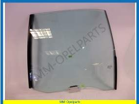 Door window glass left rear green tinted sedan