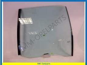 Door window glass left rear green tinted sedan