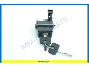 Lock with keys, trunk lid