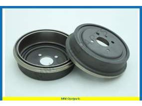 Brake drum rear, set
