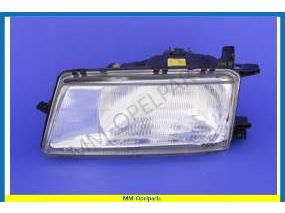 Headlight complete  let with headlight height adjustment Bosch
