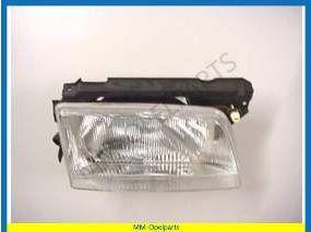Headlight complete right  H4, manual, Carello