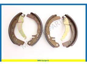 Brake shoe set rear, 1.0/1.1/1.2   200 x 28-mm
