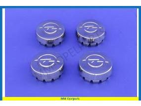 Set hub caps, chrome. (4 piece set)