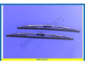 Wiper blades stainless steel polished 405-mm (see info)