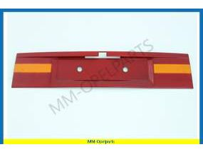 Moulding trunk lid, red/orange