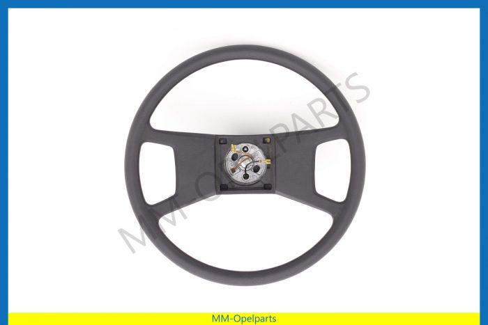 Steering wheel, 4 spokes, black (CD)
